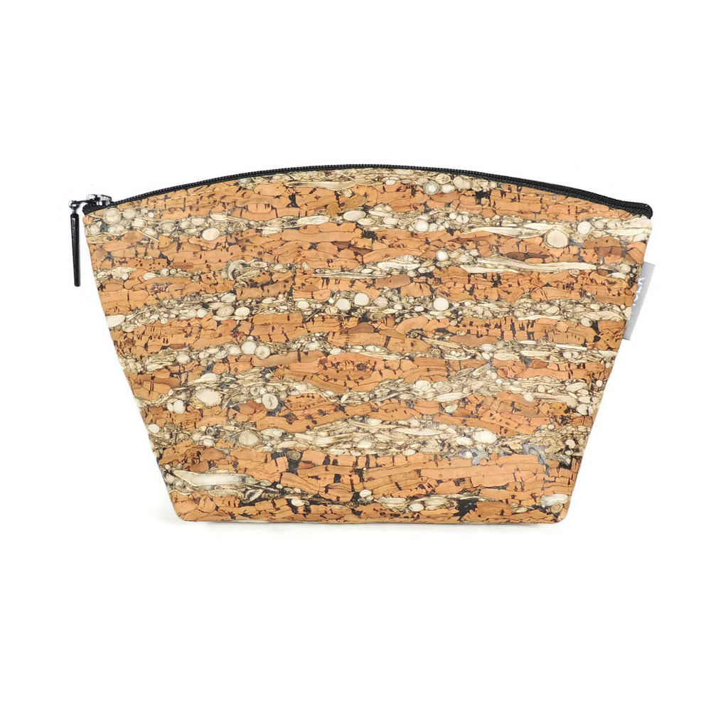 Small Standing Pouch in Fennel Cork