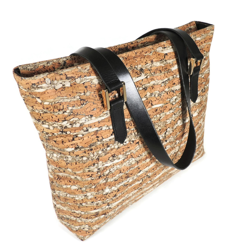 Boot Tote in Fennel Cork
