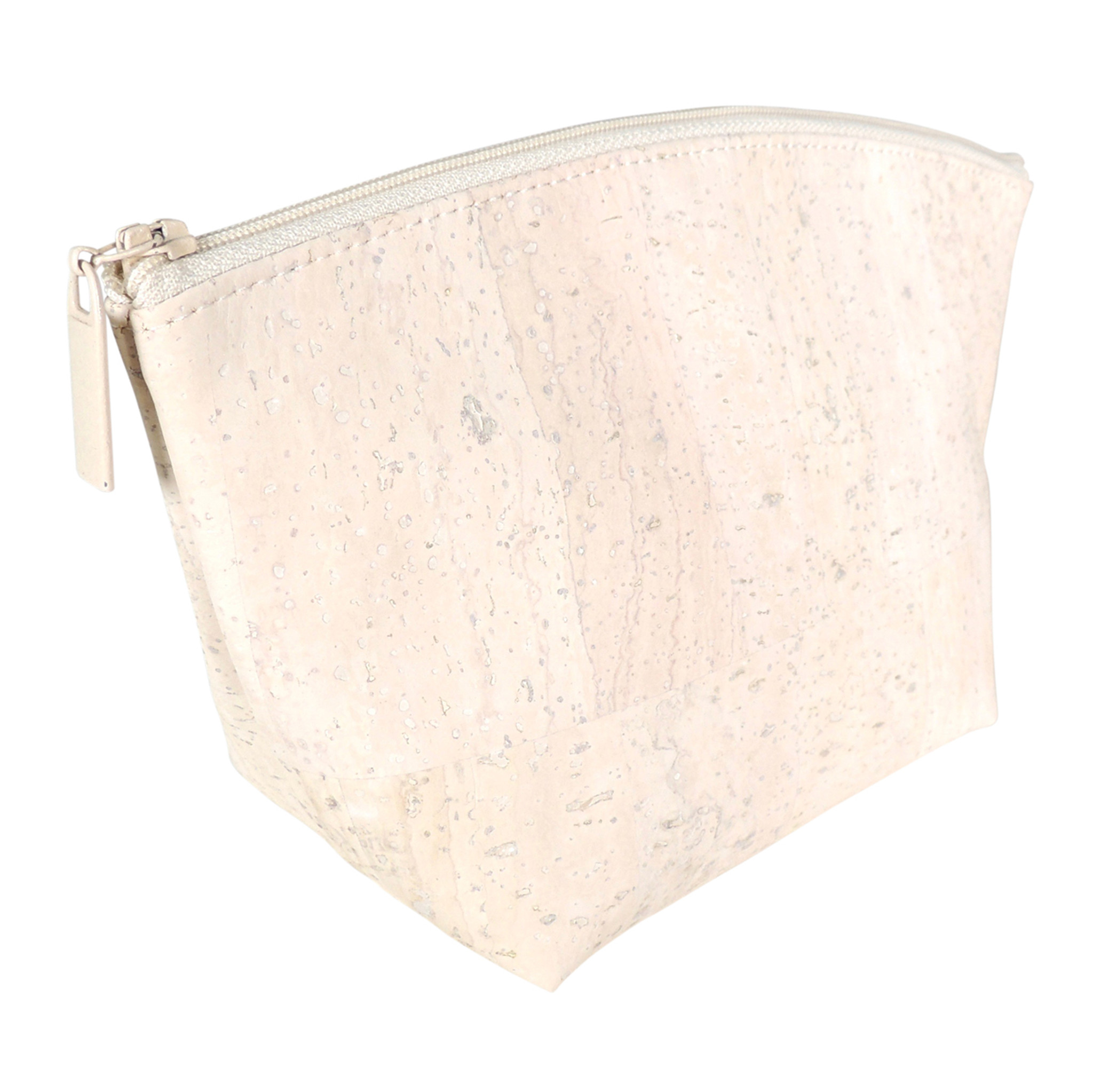 Small Standing Pouch in White Cork