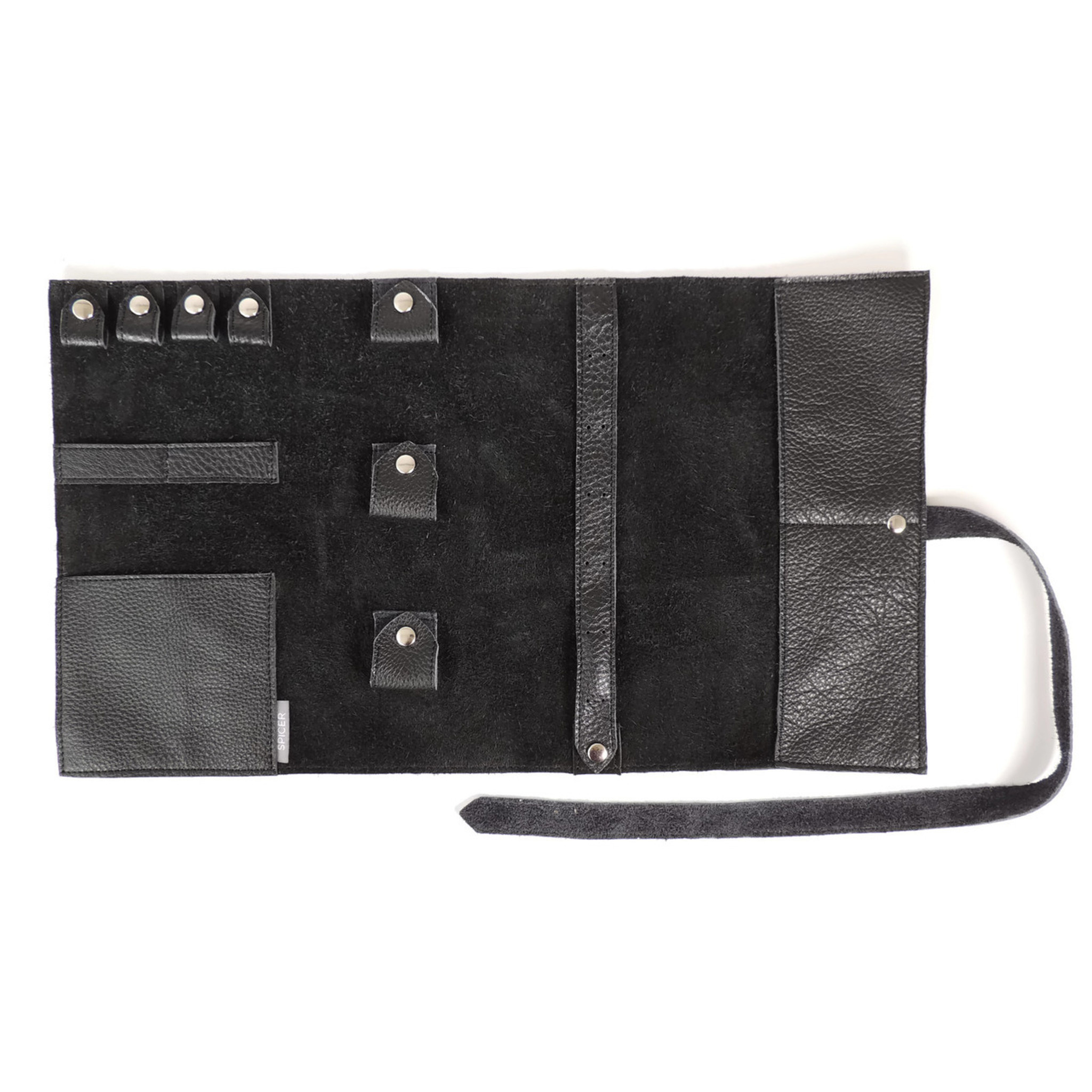 Jewelry Leather Roll in Black