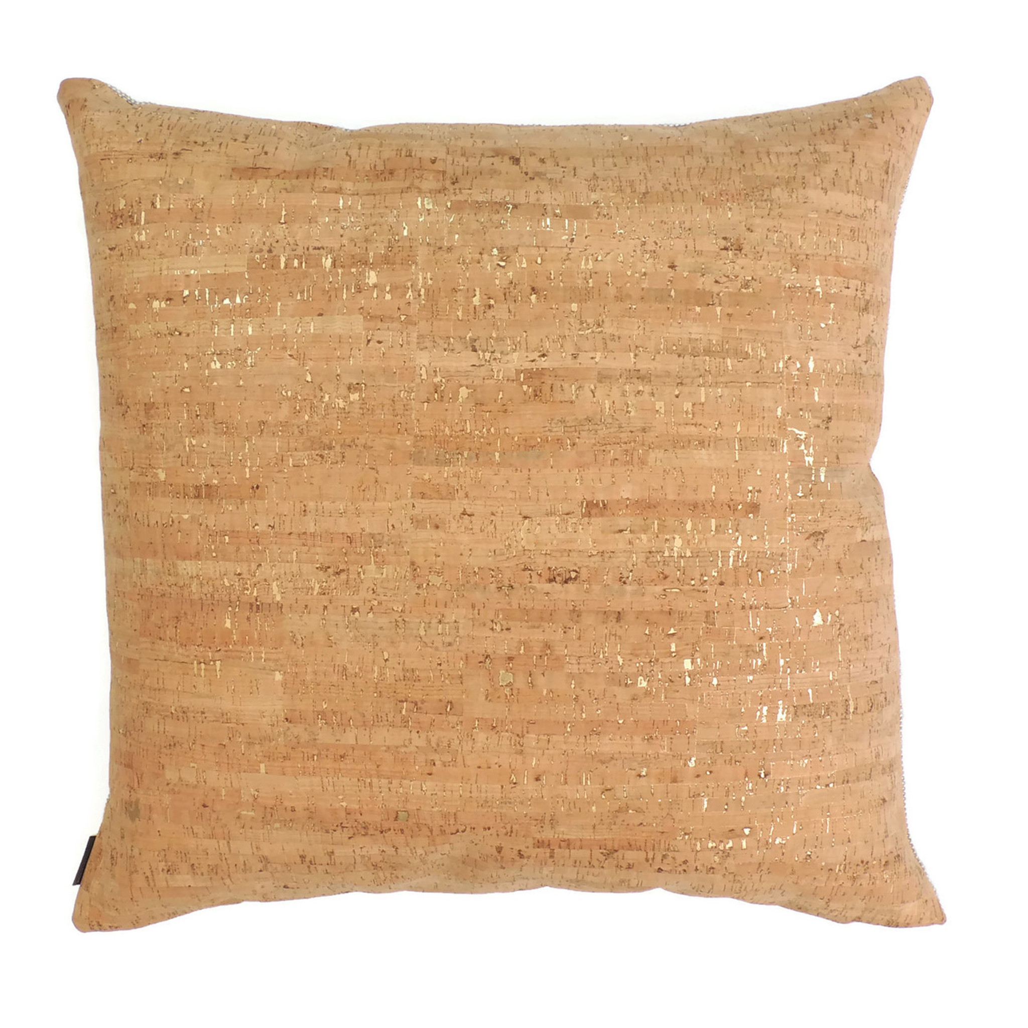 """24"""" by 24"""" Pillow Cover in Cork Dash Gold"""