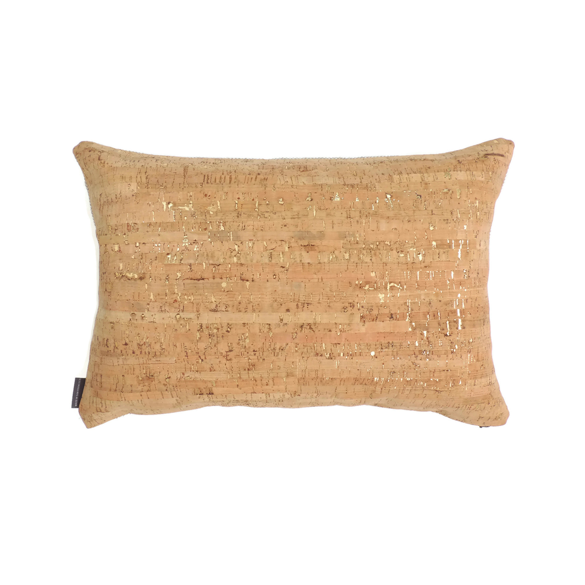 Lumbar Pillow Cover in Cork Dash Gold