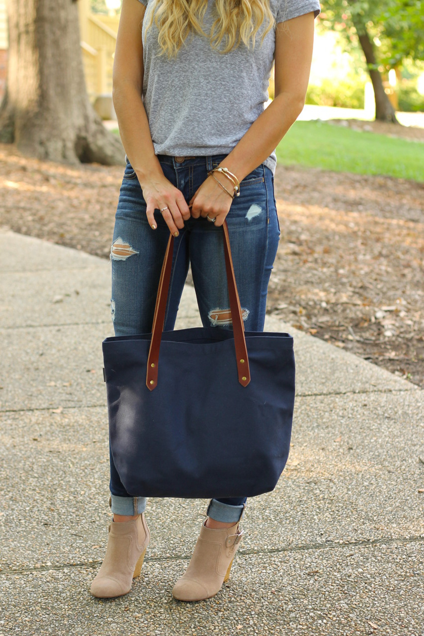 Red Canvas Market Tote