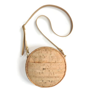 Circle Purse in Cork Dash Gold