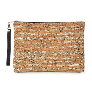 Carryall Clutch in Fennel Cork
