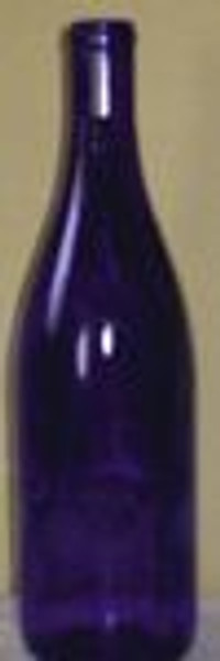 Cobalt Blue Hock Bottle 750 ml