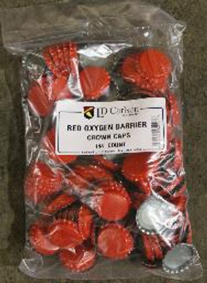 RED CROWN CAPS WITH OXY-LINER 144/BAG
