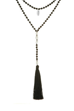 TREZO LAVI Double Drop Freshwater Pearl Necklace