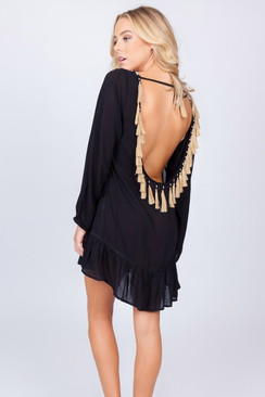 TREZO LAVI Baja Tunic in Black