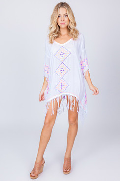 TREZO LAVI Santorini Tunic in White