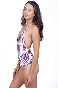 MIKOH Africa One Piece in Botanical Wine