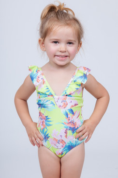 TORI PRAVER KEIKI Kids Victoria Full Piece in Limoncello