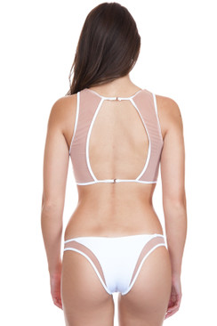 db878ea46456e TORI PRAVER Manon High Leg Cheeky Bottom in White