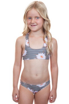 ACACIA HONEY BABY Kailua Top in Dragon Stripe