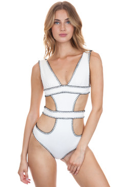 ELLEJAY Amores One Piece in Ivory Texture
