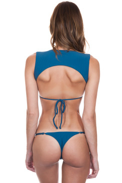 FRANKIES BIKINIS Scarlett Bottom in Deep Sea Blue