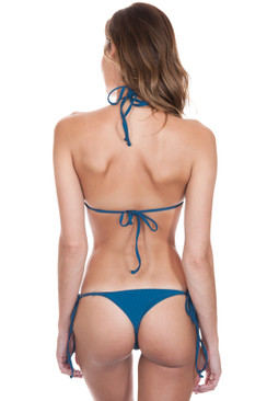 FRANKIES BIKINIS Sky Bottom in Deep Sea Blue