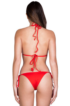 FRANKIES BIKINIS Brie Bottom in Red