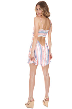 BEACH RIOT Taylor Dress in Pink Stripe