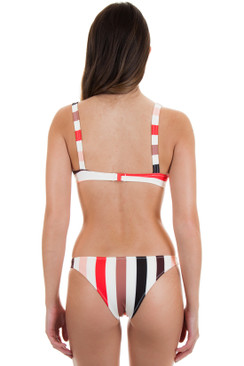 SOLID AND STRIPED Rachel Bottom in Lipstick Stripe