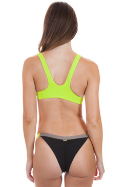 BEACH BUNNY Endless Summer Bottom in Black / Lime /Tortuga