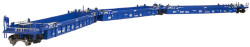 Atlas HO Master 20002841 Thrall Triple 53' Articulated Well Car, Pacer Stack Train (Blue/White/Red) #5370