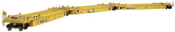 Atlas HO Master 20002845 Thrall Triple 53' Articulated Well Car, TTX (Yellow/Black) #728605