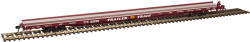 """Atlas Master HO 20004101 F89J 89' Flat Car (Mid/End Hitches), TTX (Brown """"As Delivered"""") #601199"""