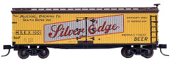Atlas Master N, 40' Wood Reefer, Silver Edge (Yellow/Brown/Black/Red/Silver) #1002