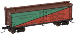 Atlas Master N, 40' Wood Reefer, Bourk-Donaldson (Green/Brown/Black/Orange) #6200