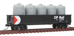 Atlas Trainman N Scale Ready to Run, 42' Steel Gondola w/Cement Container Load, CP Rail CP #348966 (black, white, red, Multimark Logo)