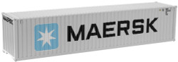 """Atlas N 50002259 40' Standard Height Container, """"Maersk I"""" (MAEU) Set #1  (Gray/Blue/White)"""