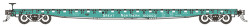 BLMA N Scale Ready to Run , GSC 60' Flatcar, Great Northern #160008 (Jade Green, white)