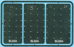 BLMA N, Detail Parts-Grab Iron Drill Templates (4 sizes)
