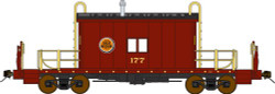 Bluford Shops N Scale BLU25040 Ready to Run Steel Transfer Caboose w/Running Board,  Chicago Great Western  #177