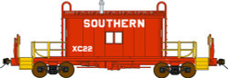 Bluford Shops N Scale BLU25060 Ready to Run Steel Transfer Caboose w/Running Board,  Southern Railway  #XC22