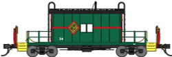 Bluford Shops N BLU25080 Steel Transfer Caboose w/Short Roof & End Ladders, Chicago & Illinois Midland #34 (green, red, black)