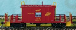 Bluford Shops N 25090 Short Roof Transfer Caboose Chicago and North Western #12527