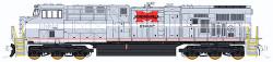 """Fox Valley Models N 70460 Ready to Run-DCC Ready (6-pin Decoder Socket) GE """"Gevo"""" GE-ES44AC Diesel Locomotive, Norfolk Southern #8025 Heritage, Monongehela (Grey)"""