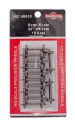"Intermountain HO 40053 Semi-Scale 28"" Wheels 12 Sets"