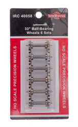 "Intermountain HO 40058 33"" Ball-Bearing Wheels 6 Sets"