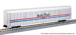 Kato N 106-5507 Autorack  Amtrak Auto Train Phase III 4 Car Set #1