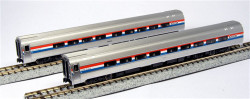 Kato N 1066291 Budd Amfleet II Amtrak Phase III 2-Car Set A  #25023 &  #25056