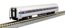 Kato N Ready to Run, Budd Amfleet I 2-Car Set B Cafe & Coach, Amtrak Phase VI