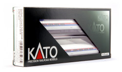 Kato N Ready to Run, Amfleet I Coach Phase I Paint 2-Car Set B, Cars #21232 I #20041