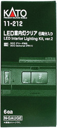 Kato N Scale Passenger LED Car Interior Lighting Kit, Version 2 11-212 (2012), 6-pack