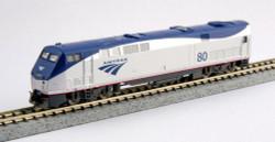Kato N Scale Ready to Run DCC Ready, GE P42 Genesis Diesel Locomotive, Amtrak Phase Vb #99 (Low Stripe)