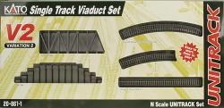 Kato Unitrack N Scale V2 Single Track Viaduct Set