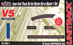 """Kato Unitrack N Scale V5 Inside (11""""Radius) Loop Track Set"""