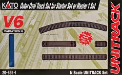 "Kato Unitrack N Scale V6 Outside (13 3/4"" Radius) Loop Track Set"